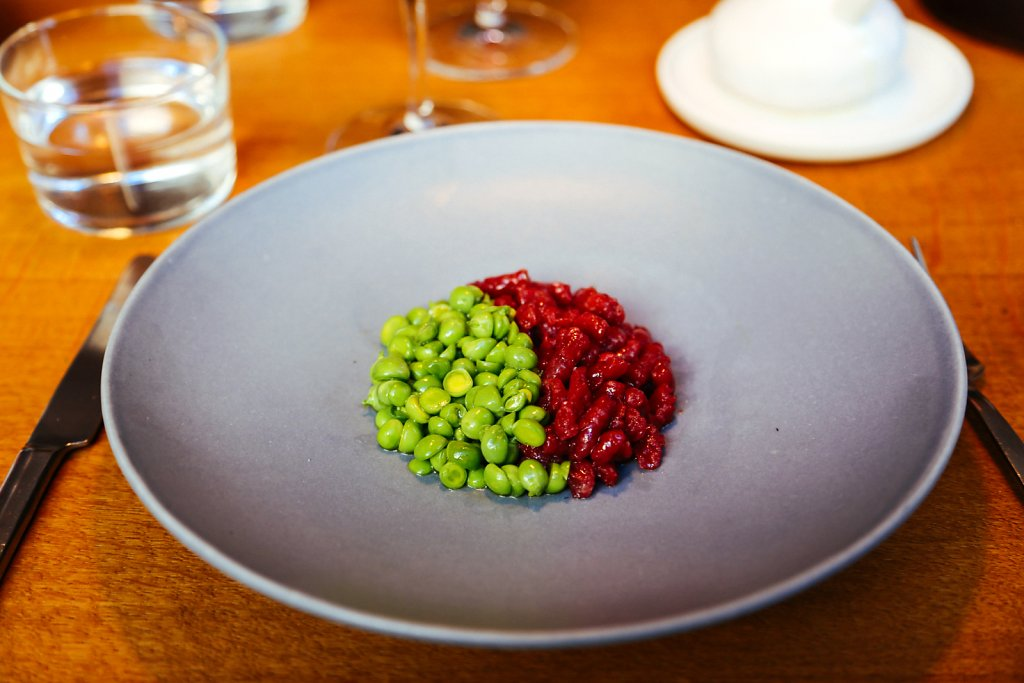 Venison, peas and mint