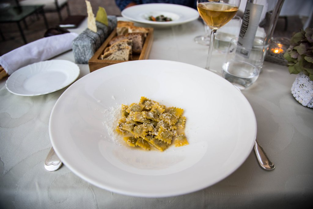 Traditional agnolotti with Isigny butter